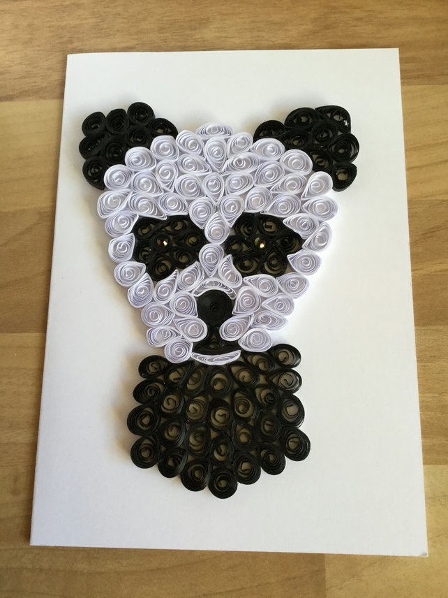 Panda Card, Paper Sculpture, Childs Birthday Card or Nursery Decor