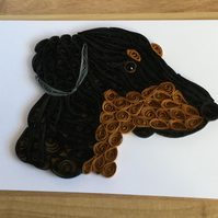 Doberman Card, Family Pet or  Guard Dog ideal Dog Lovers Card,