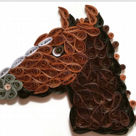 Horse Card, Smart Horse with a Plaited Mane.