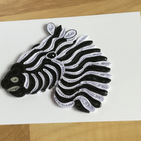 Zebra Card, Monochrome Picture of a Safari Animal