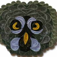 Great Grey Owl Card, 3D Quilled Nocturnal Bird