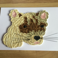 Ferret Card, Small Pet Paper Sculpture, ideal Animal Lovers Card
