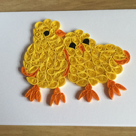 2 Chicks Card, Twin Chicks for New Mum