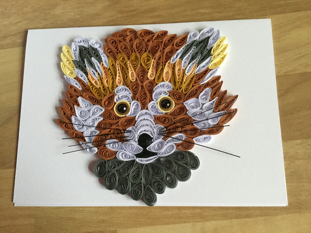 Red Panda Card, Wildlife Portrait.