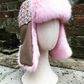 "A women's ""Classy girl"" winter ear flap, trapper  hat, Ushanka."