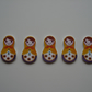 5 Russian Doll Buttons