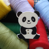 5 Animal Buttons - Panda - Wildlife - Zoo - Jungle