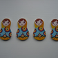 4 Russian Doll Buttons