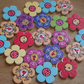 Flower Buttons x20: Free Delivery - Multi Pack - Assorted - Spring - Summer