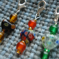 SALE, 3 Stitch Markers, Crochet Stitch Markers, Knitting Stitch Markers, Hearts
