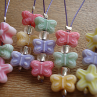 5 Stitch Markers, Knitting Stitch Markers, Butterflies, Flowers