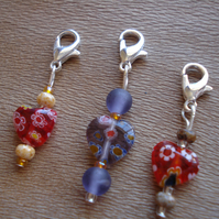 SALE, 3 Stitch Markers, Crochet Stitch Markers, Knitting Stitch Markers