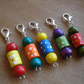 5 Wooden Stitch Markers, Crochet Stitch Markers, Knitting Stitch Markers