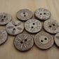 Wooden Buttons, Free UK Delivery