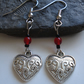 Heart Earrings, Free UK Delivery, Tibetan Silver Earrings