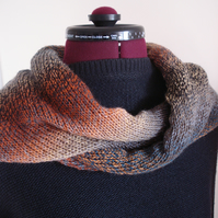 Knitted Wrap, Scarf, Shawl, Stole, Triangle Wrap