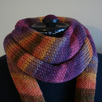 Knitted Wrap, Shawl, Stole, Scarf, Triangle Scarf