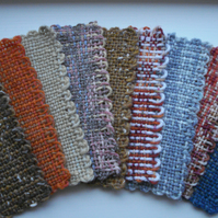 4 Handwoven Bookmarks