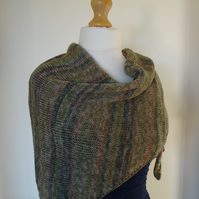 Forest Scarf, Wrap, Shawl, Knitted Scarf
