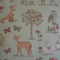 Woodland Animals Cushion Cover