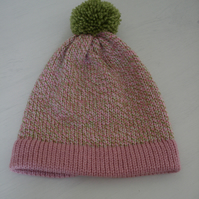 Child's Hat, Bobble Hat, Age 5-10, Pompom