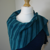 Knitted Scarf, Shawl, Stole, Wrap, Triangle Scarf