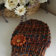 Woolly Hat, Ladies Hat, Chunky Knit, Knitted Hat