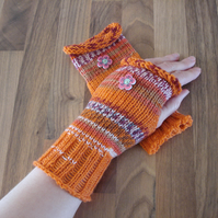 Wristwarmers, Fair Isle Effect