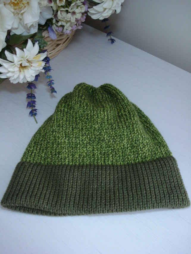 Beanie, Green Hat, Knitted Hat