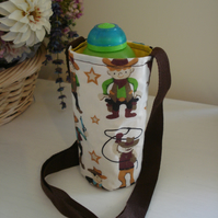 Child's Water Bottle Carrier, Cowboy, Eco Gift