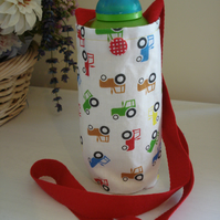 Child's Water Bottle Holder, Tractor