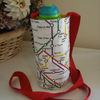 Small Water Bottle Holder, London Underground Map