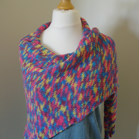 Sunrise Scarf, Knitted Scarf, Wrap, Shawl, Stole, Triangle Scarf