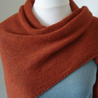 Alpaca Autumn Shawl, Wrap, Scarf