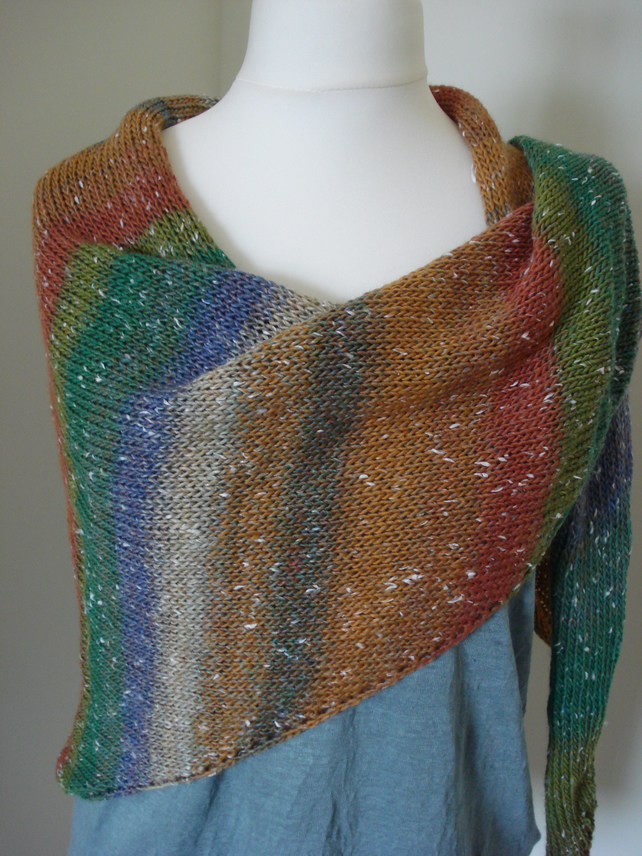 Aurora Knitted Wrap, Shawl, Scarf