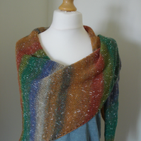 Northern Lights Knitted Shawl, Knitted Wrap