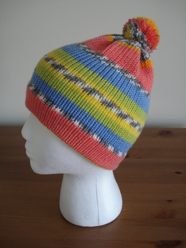Child's Bobble Hat, 3-8 Years