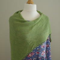 Bamboo Wrap, Stole, Shawl- Light Green