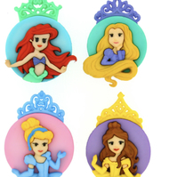 Dress It Up Disney Princesses Buttons