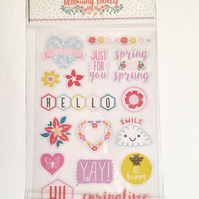 Dovecraft Blooming Lovely Clear Stickers