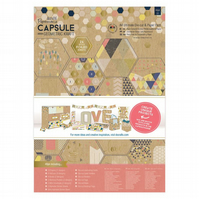 A4 Ultimate Die-cut & Paper Pack - Geometric Kraft