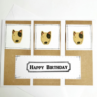 Bull Terrier Handmade Birthday Card