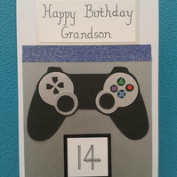 Handmade Game Controller Birthday Card