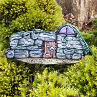 Hand crafted polymer clay fairy bunker cottage