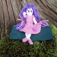 Hand knitted Ballerina Fairy doll