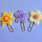Set of 3 Felt flower planner clips