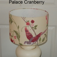 Handmade Lampshade Laura Ashley Summer Palace Cranberry 30cm Drum