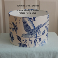 New Handmade Table Lampshade Laura Ashley Summer Palace Royal Blue 30cm Drum