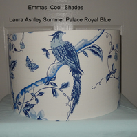 New Handmade Ceiling Lampshade Laura Ashley Summer Palace Royal Blue 40cm Drum