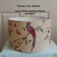 New Handmade Lampshade Laura Ashley Summer Palace Cranberry Ceiling Pendant 40cm